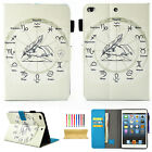 For Apple iPad 2 3 4 Mini Air 2 Stand Slim Smart Pattern Leather Case Cover Skin