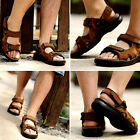 Genuine Leather Men's Sport Beach Sandals Fisherman Breathable Casual Shoes Cost
