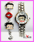 Betty Boop watch and Bracelet Set Metal WristWatch In Red Heart Shap $15.99 USD