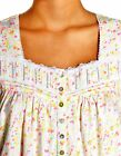 "LG  Eileen West Sleeveless Yellow Confetti 36"" short Night gown knit cotton"