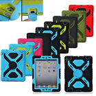 Defender Heavy Duty Hard Cover Shockproof Rubber Case Stand for iPad 2 3 4 mini