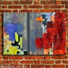ABSTRACT ART PAINTING CANVAS WALL ART PRINT PICTURE SMALL MEDIUM LARGE