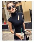 spring and autumn hollow out sleeveless or long-sleeve sexy T-shirt vest 2 color