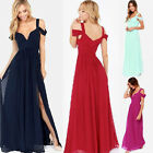 PLUS SIZE Split Long Maxi Evening Bridesmaid Party Prom Dress Cocktail Ball Gown