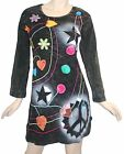 02 RD Agan Traders Cotton Tie Dye Star Long Sleeve Dress
