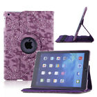 "360 Rotating Folio Stand Smart Leather Case Cover For Apple iPad 9.7"" iPad 2 3 4"