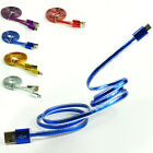 1M High Speed Crystal Micro USB Data Sync Charger Cable For Android Phone Lot