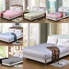 Luxury Soft Flat Fitted Sheet Bed Coverlet Set Comfort Bed Cover 7 Types UK New