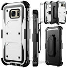 For Samsung Galaxy J7 S7 Edge Phone Case Hybrid Rugged Armor Holster Stand Cover