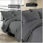 COMFY New Gray Plain & Stripe 1200TC Egyptian Cotton All Bedding Sets & Size