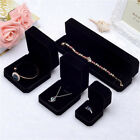 Top Velvet Cover Black Shaped Jewelry Ring Bangle Show Display Storage Box Gift