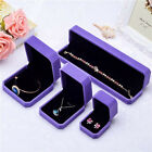 Top Velvet Cover Purple Shaped Jewelry Ring Bangle Show Display Storage Box Gift