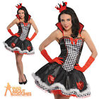 Sexy Queen of Hearts Costume Fairytale Ladies Alice Tea Party Fancy Dress Outfit
