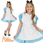 Girls Alice Tea Party Costume Child Traditional Book Day Week Fancy Dress Outfit