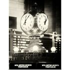 Poster Print New York City - Clock Grand Central Station