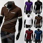 Mens Jersey Sport Shirt with a Pocket Short Sleeve Polo T Shirt Size M-XXXL Tops