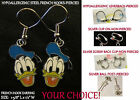 Sailor Donald Earrings *OPTIONS* Hypoallergenic Pierced OR Clip On Earrings