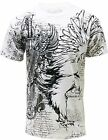 Konflic MMA Men's Crew Neck White Muscle Eagle T-Shirt 724-WH
