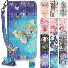 Bling Diamond Painted Pattern Leather Wallet Case Cover For iPhone 8 7 6S 6 Plus