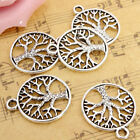 10/20/50Pcs Tibetan 'Tree of Life Circle' Charms Pendants For Jewelry Finding