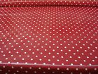 PRESTIGIOUS FULL STOP RUBY RED DOTTY SPOTTED NEW PVC VINYL OILCLOTH TABLECLOTH
