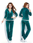 Women Velour Hoodie+Pant Tracksuit Sport Yoga Running Suit  Preference Fashion