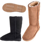 Lambland Ladies Tall Sheepskin Boots with Reinforced Heel and EVA Sole