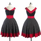 Elegant Women Vintage Style 50s 60s Housewife Party Rockabilly Pinup Swing Dress