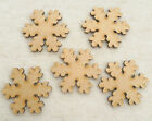 Wooden MDF Snowflakes Christmas Shapes Snowflake Craft Gift Tags 8cm x 7.5cm
