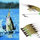 1/5pcs Silicone Shrimp Fishing Simulation Noctilucent Soft Prawn Lure Hooks Bait