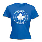 Made In Canada WOMENS T-SHIRT Retro Country Nationality Canadian Gift birthday