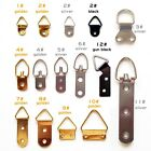 25/100 Triangle D-Ring Picture Photo Oil Painting Mirror Frame Hook Hanger Screw