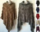Women Batwing Style Knit Poncho Cape Coat Knitwear Sweater Outwear Jacket 504