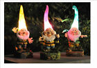 Solar Powered Outdoor Garden High Hat Gnome Lights Flowerbeds Borders Pathway‏