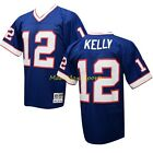 JIM KELLY Buffalo BILLS Blue MITCHELL AND NESS Throwback PREMIER Jersey Sz S-2XL