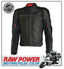 Richa TG2 Leather Motorcycle Motorbike Jacket - Black