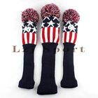 US 3pcs Golf Driver Fairway Wood Headcover For Taylormade Ping Titleist Callaway