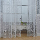 Floral Tulle Voile Door Scarf Valances Drape Sheer Window Curtains