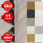 MADE TO MEASURE - WOODEN VENETIAN BLINDS WITH TAPES - WHITE/GREY AVAILABLE