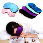 Sleep Padded Blindfold Eye Mask Pure Silk Shade Cover Travel Relax Aid New