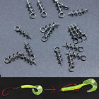 20-200 Fishing Lures Fixed Hook Pin Latch Needle Soft Worms Fishing Bait Spring