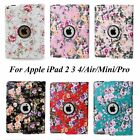 360 Rotating Magnetic Leather Smart Case Cover For Apple iPad 2 3 4/mini/Air/Pro