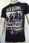 RELIGION  ~ Mens Crew-Neck  T-Shirt in Jet Black