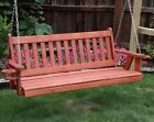 Amish Heavy Duty 800 Lb Mission 5 ft Porch Garden Swing With Cupholders-USA