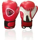 BRAND NEW MACHINE MOULDED FOAM BOXINGGLOVES FIGHT PUNCH RED REX LEATHER