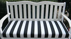 Black & White Stripe Foam Cushion for Bench Swing Glider ~ Outdoor ~Select Size