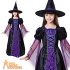 Child Princess Witch Costume Girls Halloween Fancy Dress Outfit New