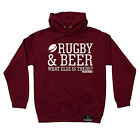 Rugby & Beer What Else Is There HOODIE Rugga Team hoody Funny birthday gift