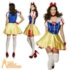 Fever Princess Costume Adult Ladies Fancy Dress Snow White Fairy Tale Outfit