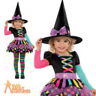 Child Miss Matched Witch Costume Girls Halloween Fancy Dress Outfit Age 3-6